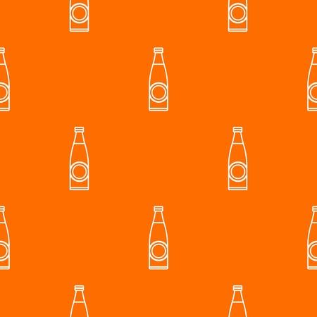 Bottle pattern vector orange Illustration