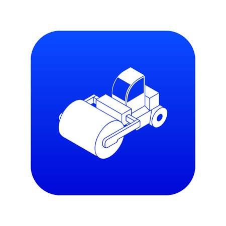 Roller truck icon blue vector isolated on white background Ilustração