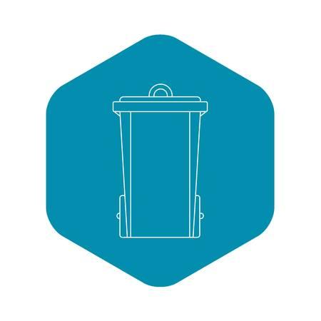 Tash bin icon, outline style Vettoriali