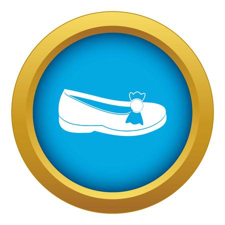 Shoe icon blue vector isolated