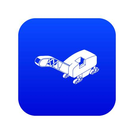 Mine band tractor icon blue vector Ilustração