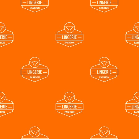Lingerie female pattern vector orange