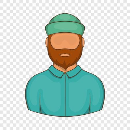 Lumberjack icon. Cartoon illustration of lumberjack vector icon for web design