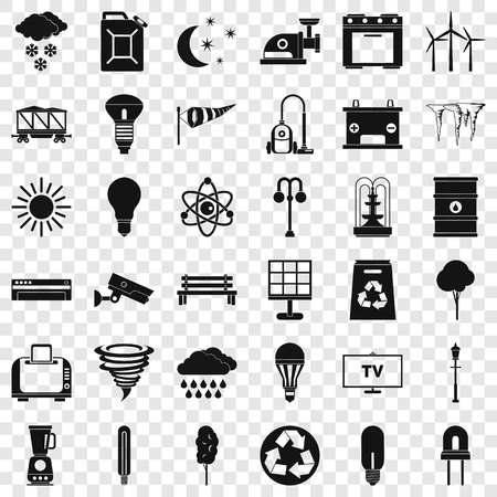 Agriculture icons set, simple style