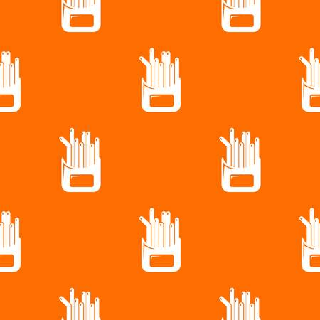 French fries pattern vector orange for any web design best Imagens - 123991457