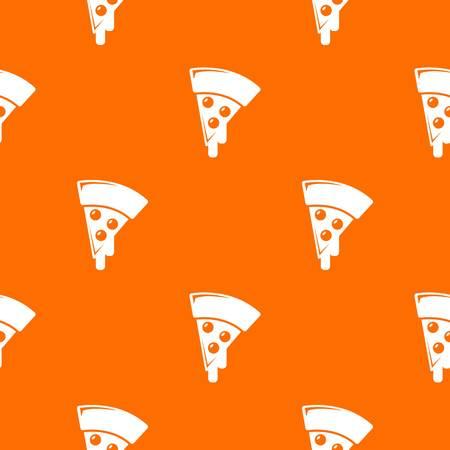Pizza pattern vector orange for any web design best Ilustração