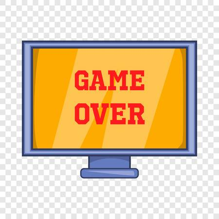 Game over screen icon. Cartoon illustration of screen vector icon for web design
