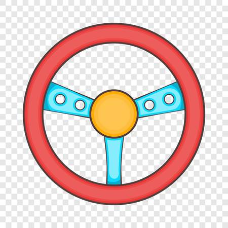 Game steering wheel icon. Cartoon illustration of wheel vector icon for web design Ilustração
