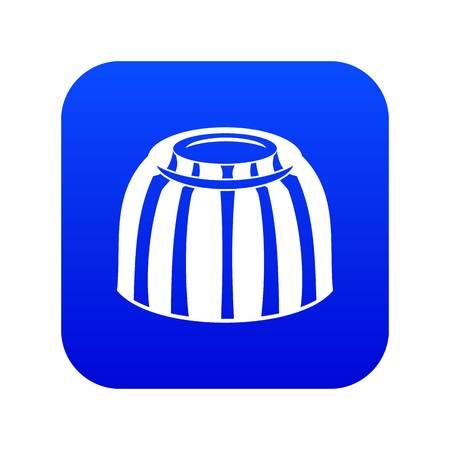 Fruit jelly icon digital blue