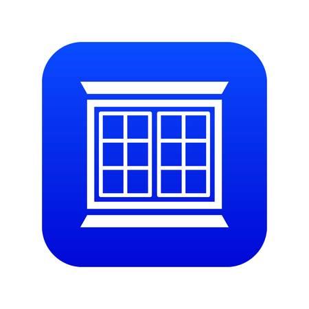 Modern window frame icon blue vector