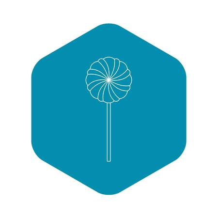 Round candy icon, outline style