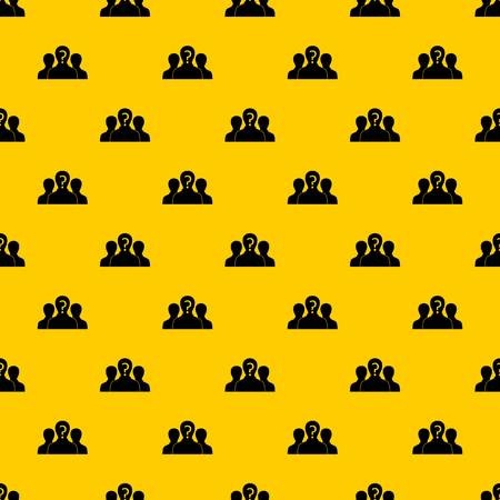 Group of people with unknown personality pattern seamless vector repeat geometric yellow for any design