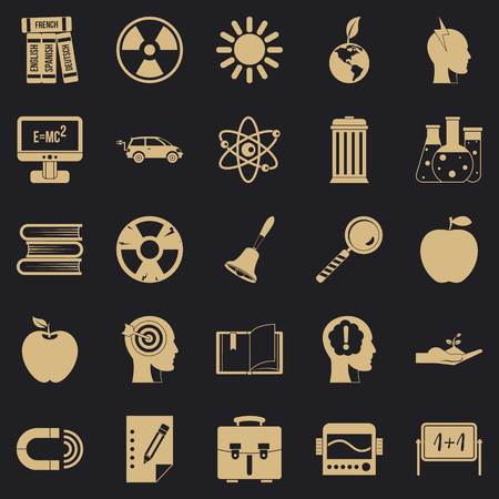 Discoveries icons set. Simple set of 25 discoveries vector icons for web for any design Illustration