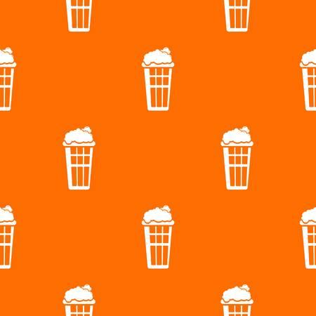 Popcorn box pattern vector orange for any web design best