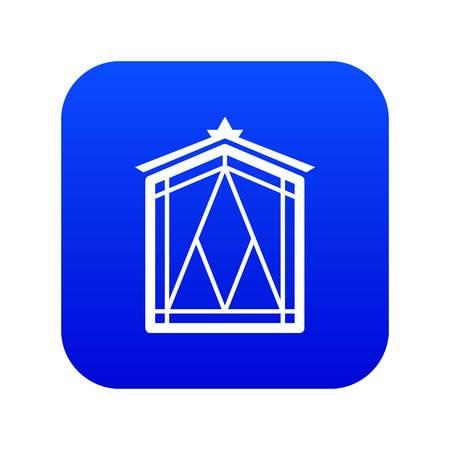 Fairy window frame icon blue vector