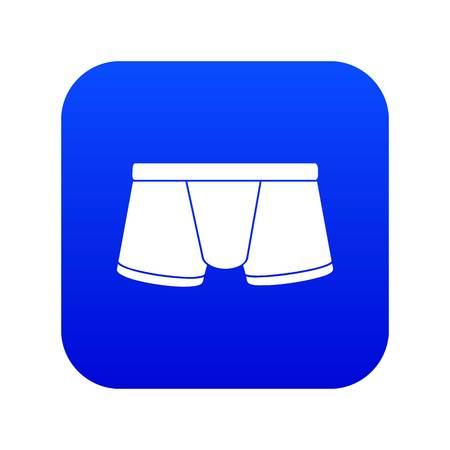 Boxers underpants icon blue vector Illustration