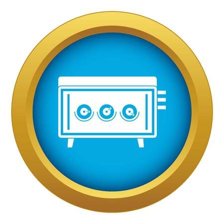 CD changer icon blue vector isolated on white background for any design