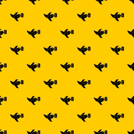 Pigeon fly with mail pattern vector