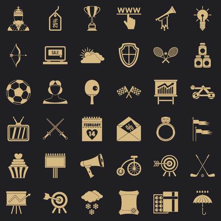 Arrow fly icons set, simple style Banque d'images - 120387631