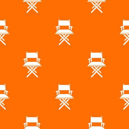 Director chair pattern vector orange