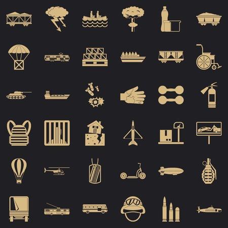 Goods icons set, simple style Vecteurs
