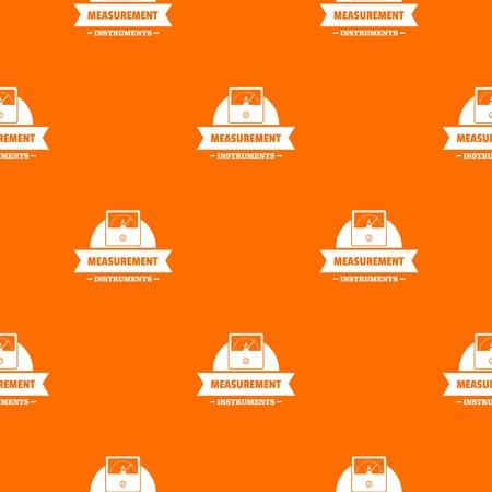 Measurement instrument pattern vector orange