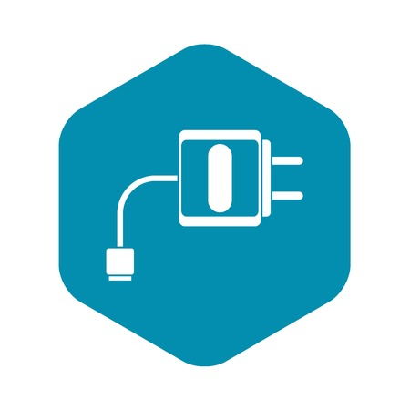 charger icon, simple style