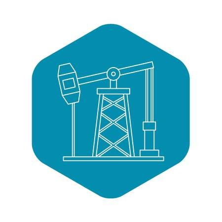 Oil pump icon, outline style