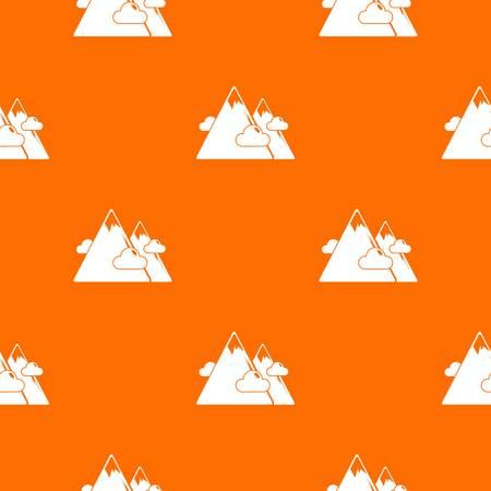 Mountains pattern vector orange for any web design best Ilustração