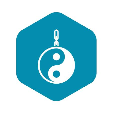 Sign yin yang icon, simple style