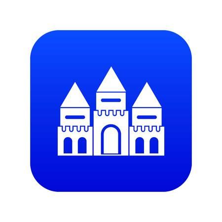 Children house castle icon digital blue Stock Vector - 120388051