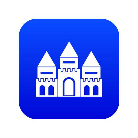 Children house castle icon digital blue