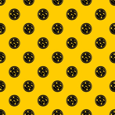 Pizza with greens pattern seamless vector repeat geometric yellow for any design