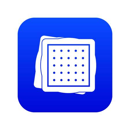 Biscuit icon digital blue