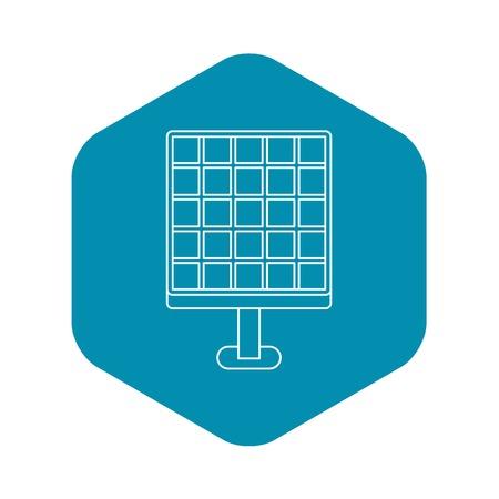 Solar energy concept icon. Outline illustration of solar energy concept vector icon for web Archivio Fotografico - 123971770