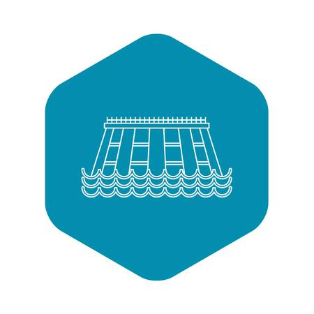 Hydroelectric icon. Outline illustration of hydroelectric vector icon for web Ilustração