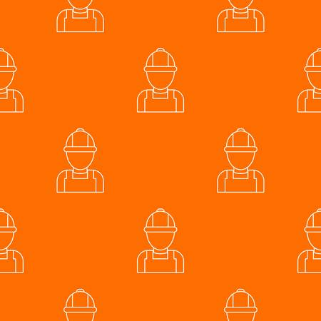 Man mechanic pattern vector orange for any web design best