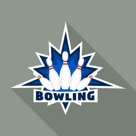 Modern bowling logo, flat style