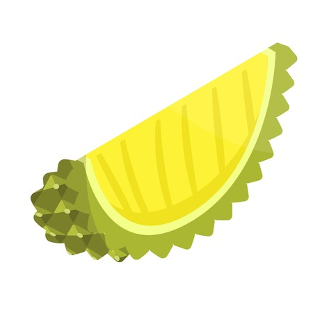 Piece of durian icon, isometric style