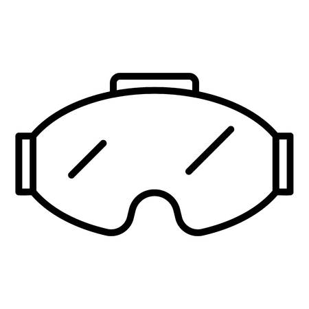 Game goggles icon, outline style