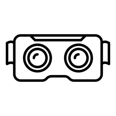 Cyber game goggles icon, outline style