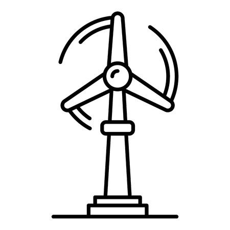 Wind turbine plant icon, outline style