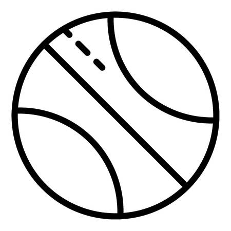 Cut basketball ball icon, outline style