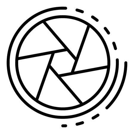 Icono de obturador de cine, estilo de contorno