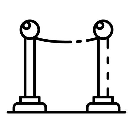 Cinema barrier icon, outline style