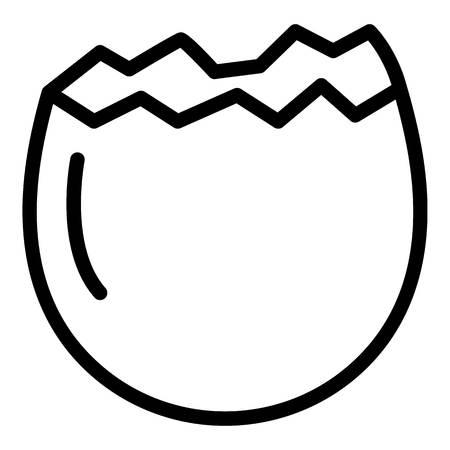 Half crack egg icon. Outline half crack egg vector icon for web design isolated on white background