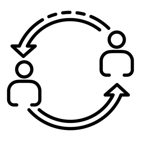 Help each other icon, outline style