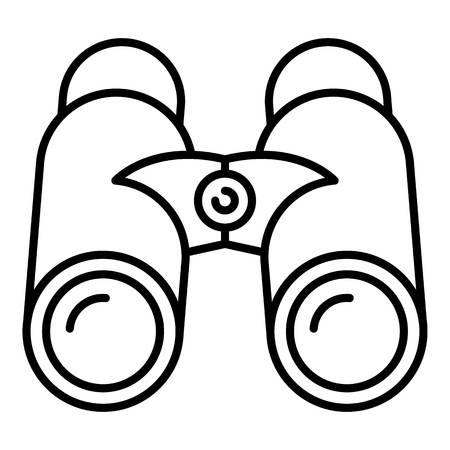 Marine binoculars icon. Outline marine binoculars vector icon for web design isolated on white background Illustration