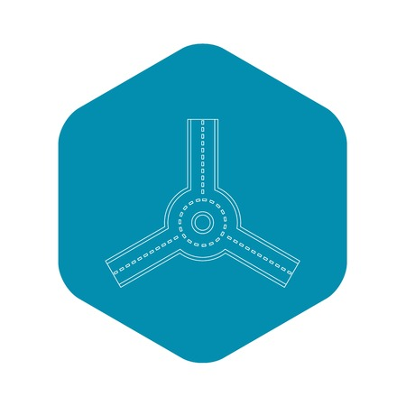 Roundabout icon , outline style