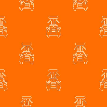Car wash pattern vector orange for any web design best